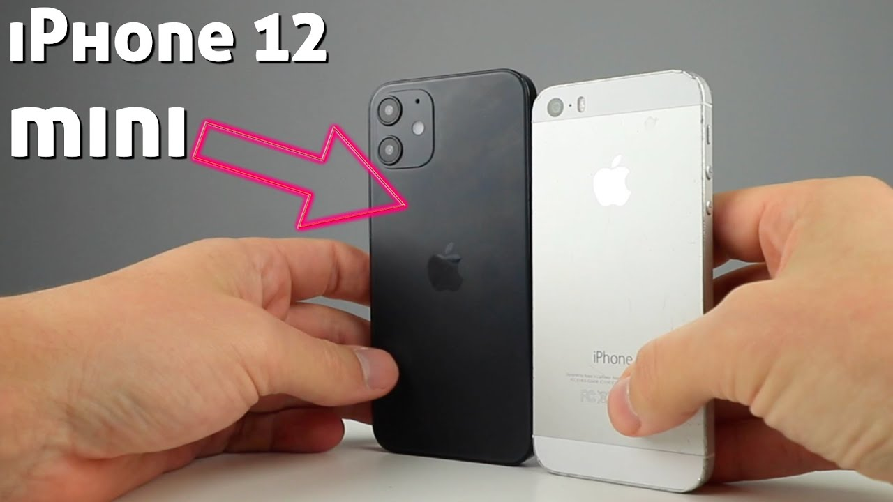 Iphone 12 Mini In Hand Size Comparison Youtube