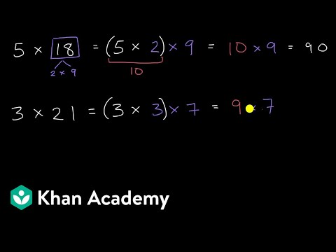 Using associate property to simplify multiplication