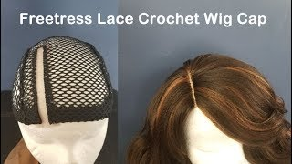 How to Slay your Crochet Wig || Freetress Lace Crochet Wig Cap & Harlem 125 Ocean Wave