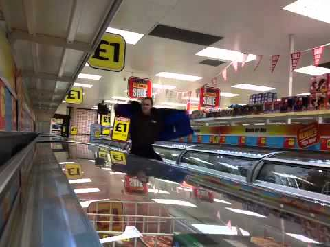 Iceland supermarket busting moves