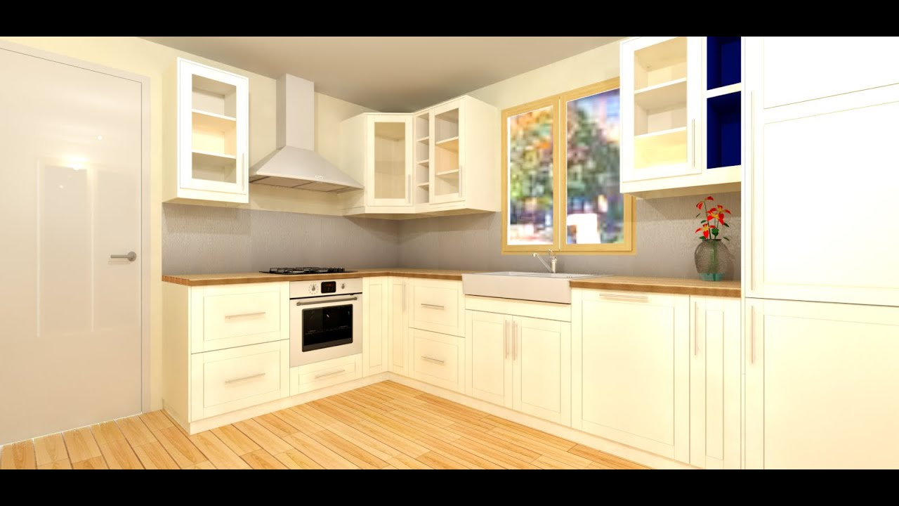 Tuto 02 faire sa cuisine 3d youtube for Modeliser sa cuisine en 3d