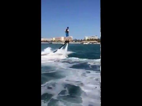 First time.... Flyboard in Palmbeach, Aruba