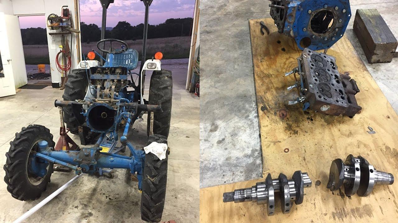 Ford 1710 Tractor Broken Crankshaft - Part 1 Of 2