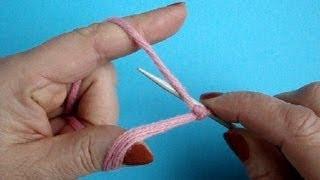 Вязание спицами Урок 13 Итальянский набор петель Knitting cast on