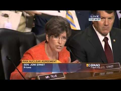 Sen. Joni Ernst: Who Advised Obama It Was Deal Or War With Iran?
