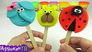 Пластилин для детей. Делаем мороженое из пластилина плей-до. Игрушкин ТВ