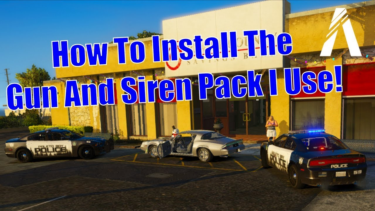 How To Install The Gun And Siren Sound Pack I Use In FiveM! (Made By  SaucyMcBossy)
