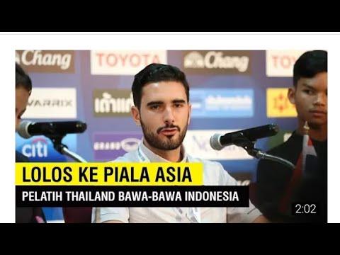 Lolos ke Piala Asia U-16 2018, Pelatih Thailand Bawa-bawa Indonesia