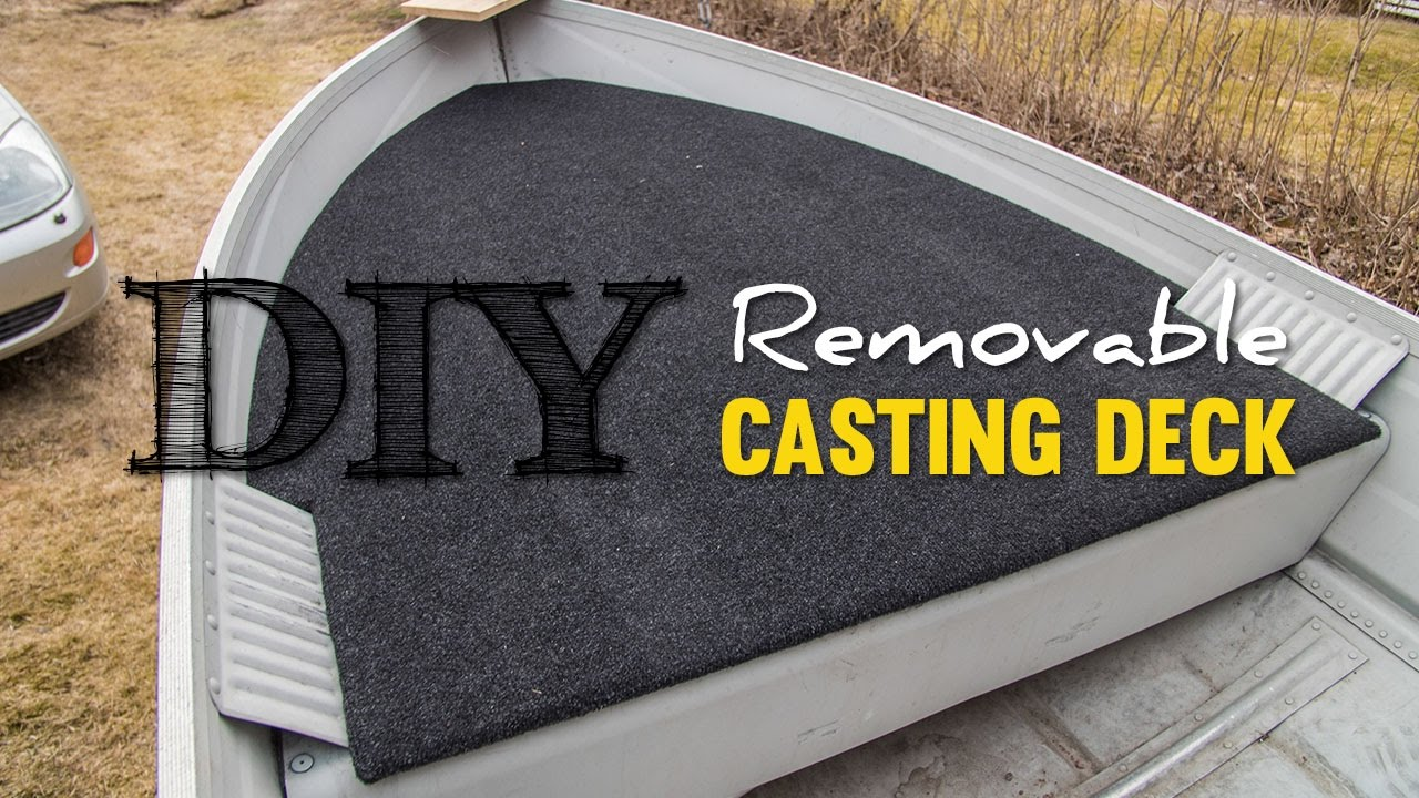 Diy cheap removable casting deck youtube for Things to consider when building a deck