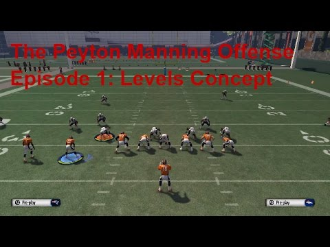 Madden 16 Tips - The Peyton Manning Offense Episode 1: Levels Passing Concpet