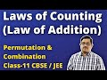 Fundamental Laws of Counting | Law of Addition | Permutation & Combination | CBSE/JEE