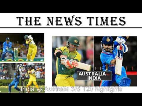 India Vs Australia Live Streaming 3rd T20