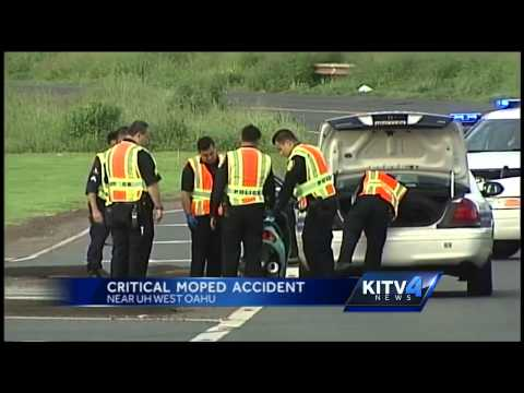 Police investigates critical moped crash near UH West Oahu