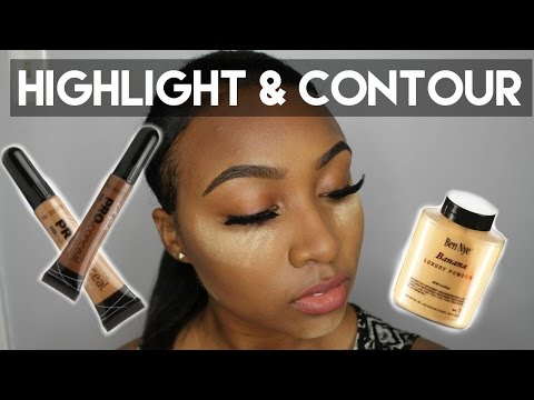 Easy Highlight & Contour Talk Through - Beginner Friendly