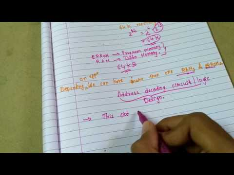 Memory interfacing with 8085 microprocessor ( theory 1)