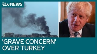 PM urges Turkish leader to end military assault on northern Syria | ITV News