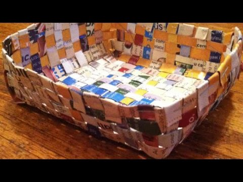 How To Make Cool Recycled Magazine Baskets - DIY Home Tutorial - Guidecentral