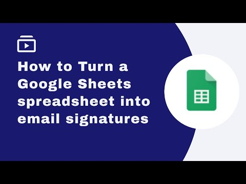 How to turn a Google Sheets spreadsheet into email signatures