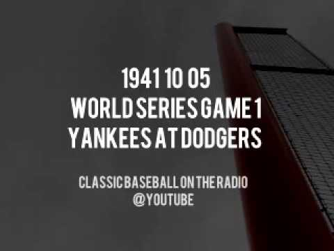 1941 10 05 World Series Game 1 Yankees at Dodgers Upgrade Complete Radio Broadcast