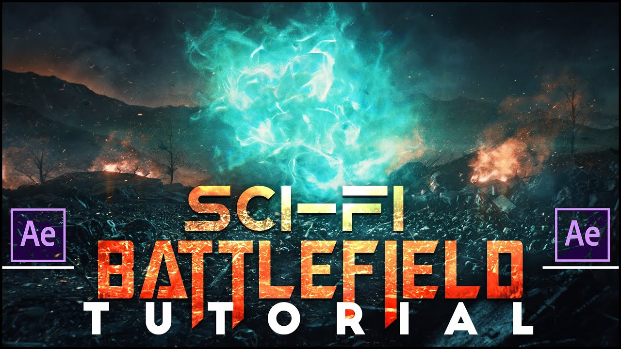 Sci-Fi Battlefield  |  (After Effects Tutorial)