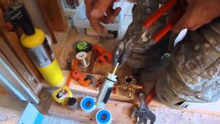 MOEN shower - tub valve installation - Pressure Balancing - repair cartridge replacement in bathroom