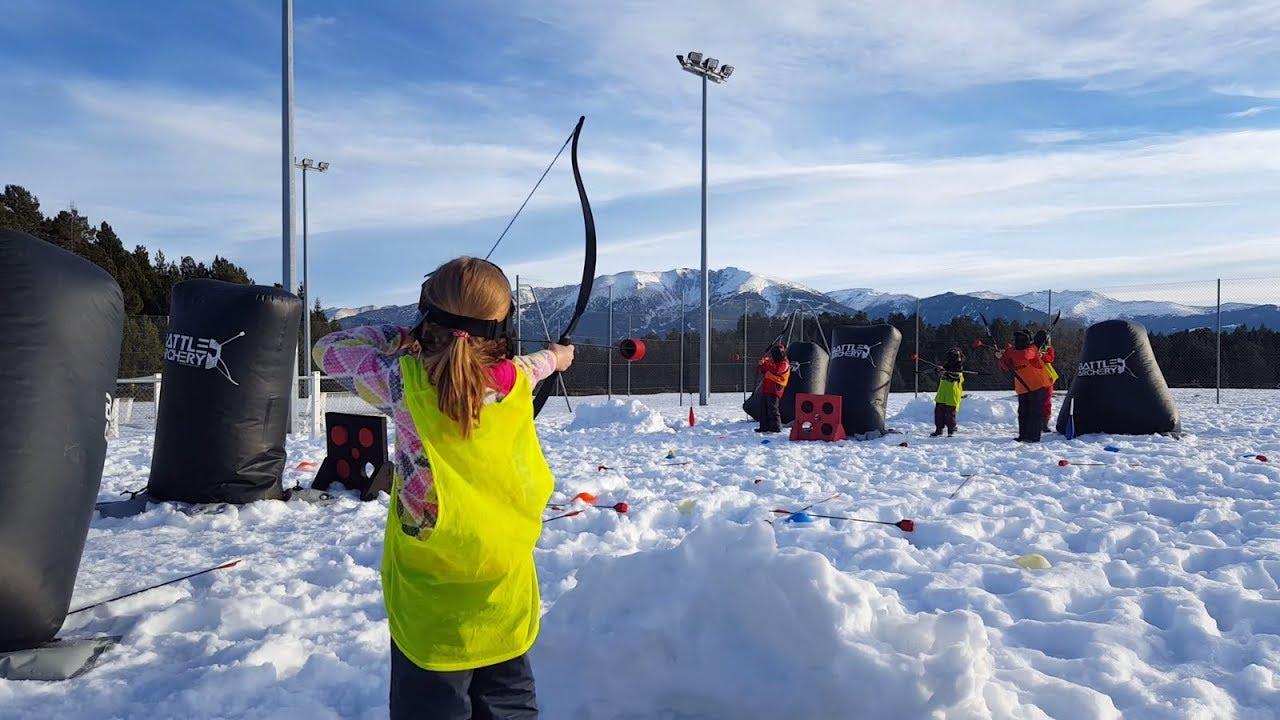 Battle Archery sur la neige au  Termanal des Loisirs