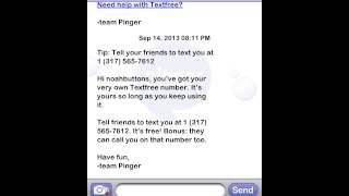 Pinger texting app
