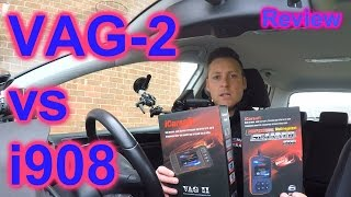 iCarsoft VAG II vs i908 Full Review - Audi VW Seat Skoda Airbag ABS Oil Service Engine Reset