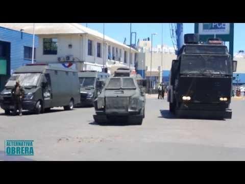 Represión a Portuarios de San Antonio