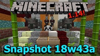 Minecraft 1.14 Snapshot 18w43a- Pandas, Pillagers, Slabs and Stairs!