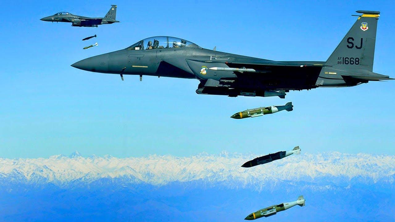 US Military News • U.S. Air Force F-15E Strike Eagles • Drop Live Bombs • Aegean Sea – June 9 2021