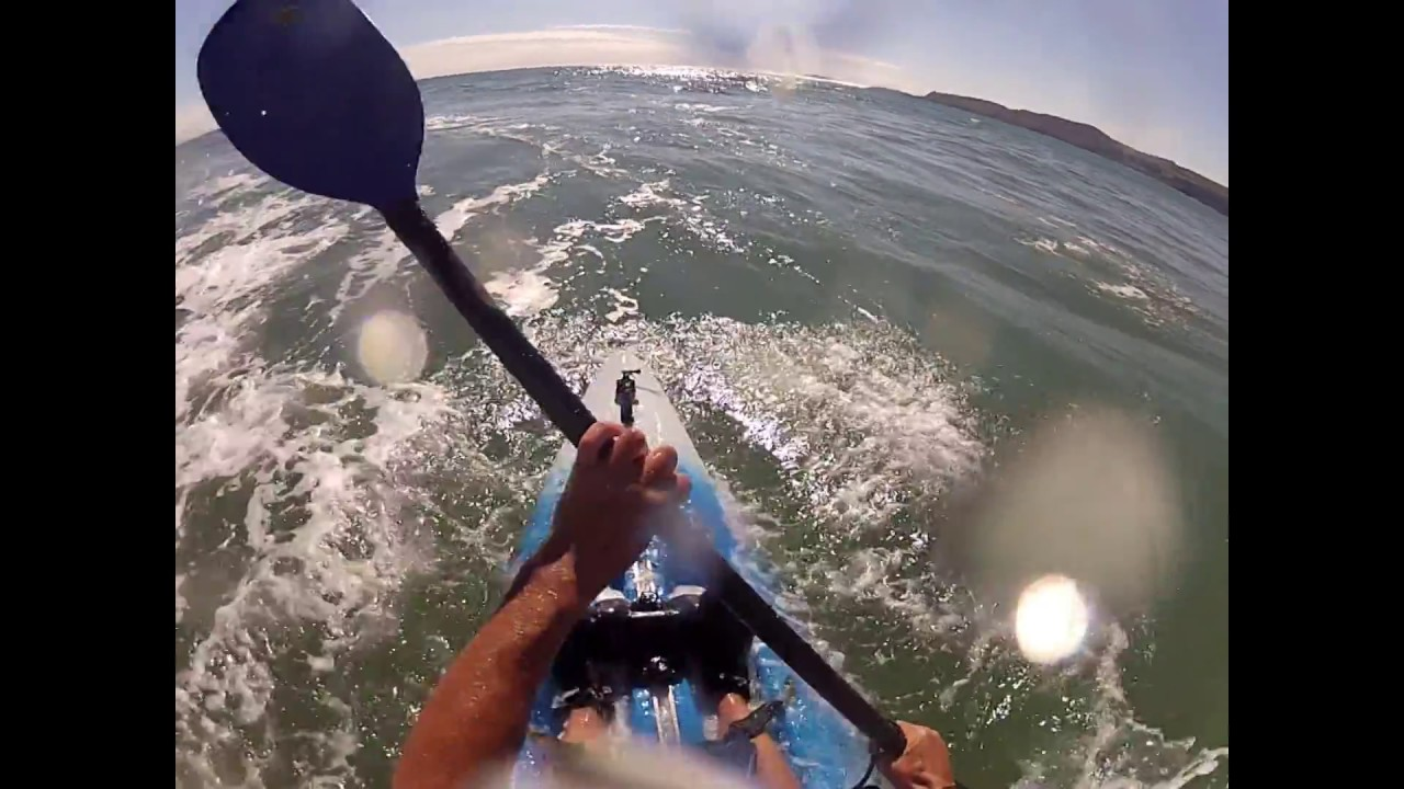 kayak Surfing with a Perception five 0