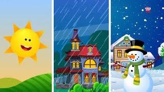 Времена года песня | Песня для младенцам | потешки для детей | Music For Kids | Seasons Song