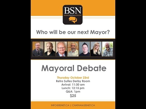 C-K Mayoral Debate Live Stream Video by website designers Abstract Marketing in Chatham, Ontario.