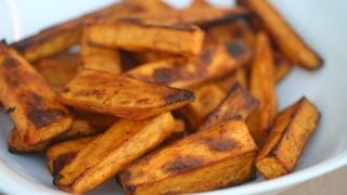 How To Make Baked Sweet Potato Fries - Healthy Side Dish - So Easy! By Rockin Robin
