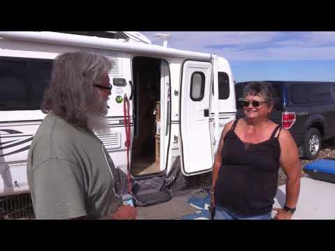 Snowbird Happily Living in an Escape Fiberglass Trailer