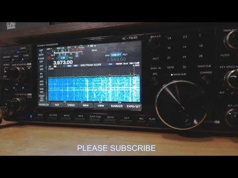 Ham Radio Breakfast Club Net Streamed With Icom 7610