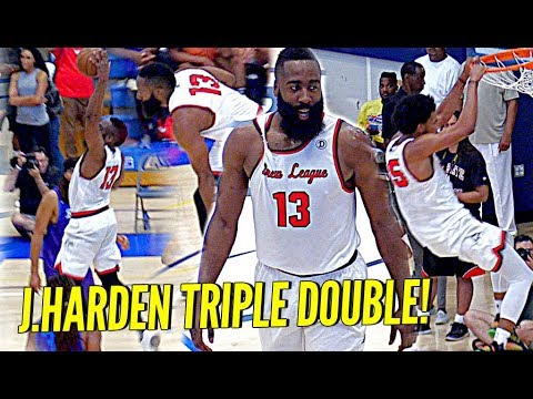 James Harden TRIPLE DOUBLE at The Drew League! STRAIGHT COOKIN w/ Marvin Bagley!!