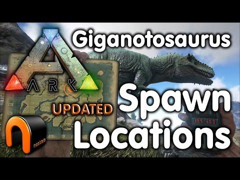 ARK - Giganotosaurus Spawn Points UPDATED