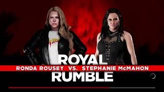 WWE 2K18 Ronda Rousey vs Stephanie McMahon Gameplay!! Royal Rumble 2018