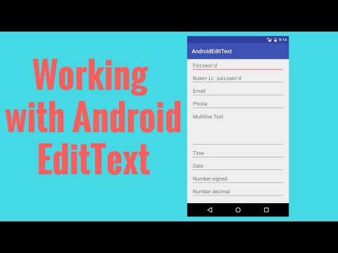 Android EditText InputType Example - YouTube