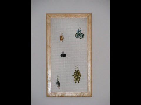 How to make an earring hanger
