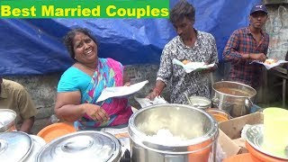 Hard Working Husband & Wife Selling Idli 4 Piece 20 Rs - Vada 4 Piece 20 Rs - Dosa 10 Rs