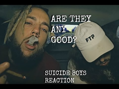 SUICIDE BOYS FIRST REACTION!!!!!! LITERALLY OUR FIRST TIME HEARING THEM