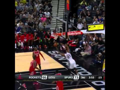 Manu Ginobili no-look pass to Tim Duncan