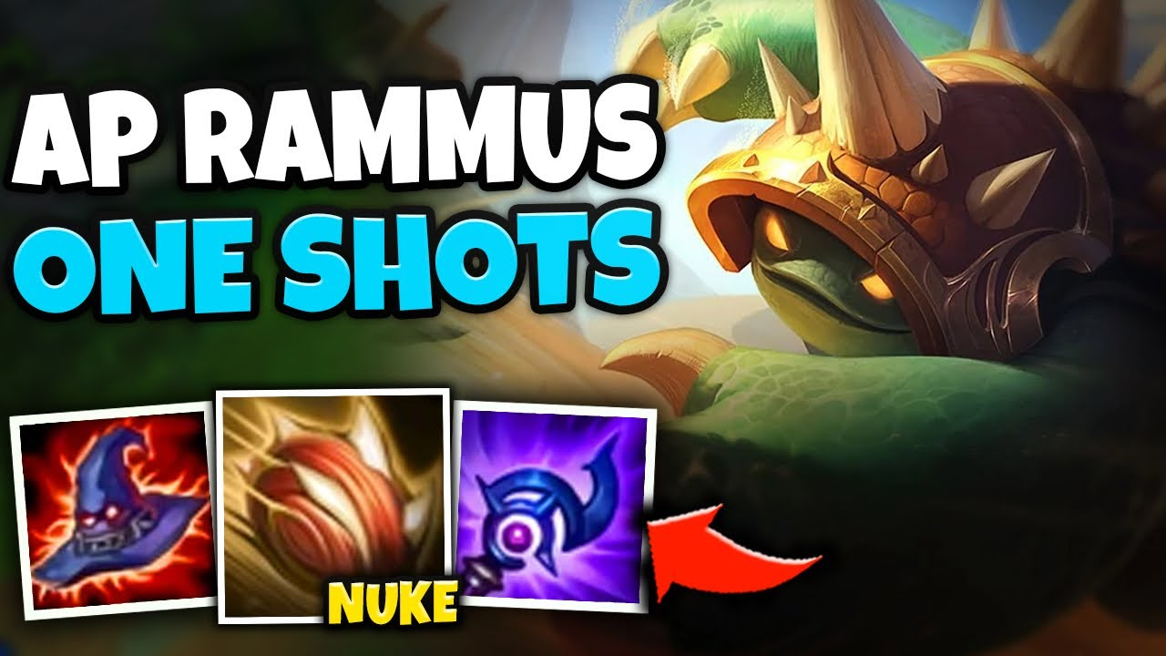 CHARGE IN WITH POWERBALL AND ONE SHOT THEM! FULL AP RAMMUS Q WILL MELT YOU - League of Legends