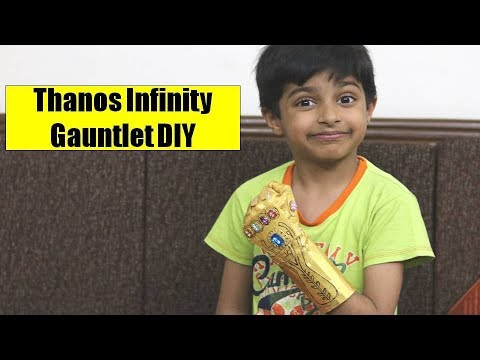 How to make THANOS INFINITY GAUNTLET at home | Simple DIY Thanos Hand