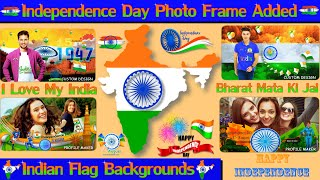 Independence Day Photo Frame allows To Edit Photo With Indian Flag Backgrounds | Hindi Tutorial screenshot 2