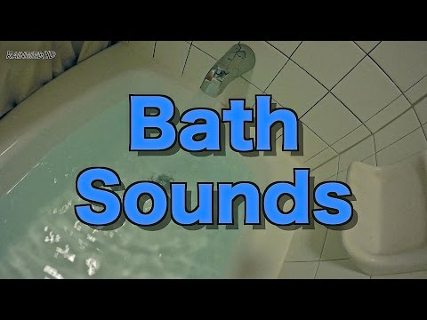 [4K] Running Bath Sounds | 2 Hours of Running Bathwater / Bath Filling / Water Sounds
