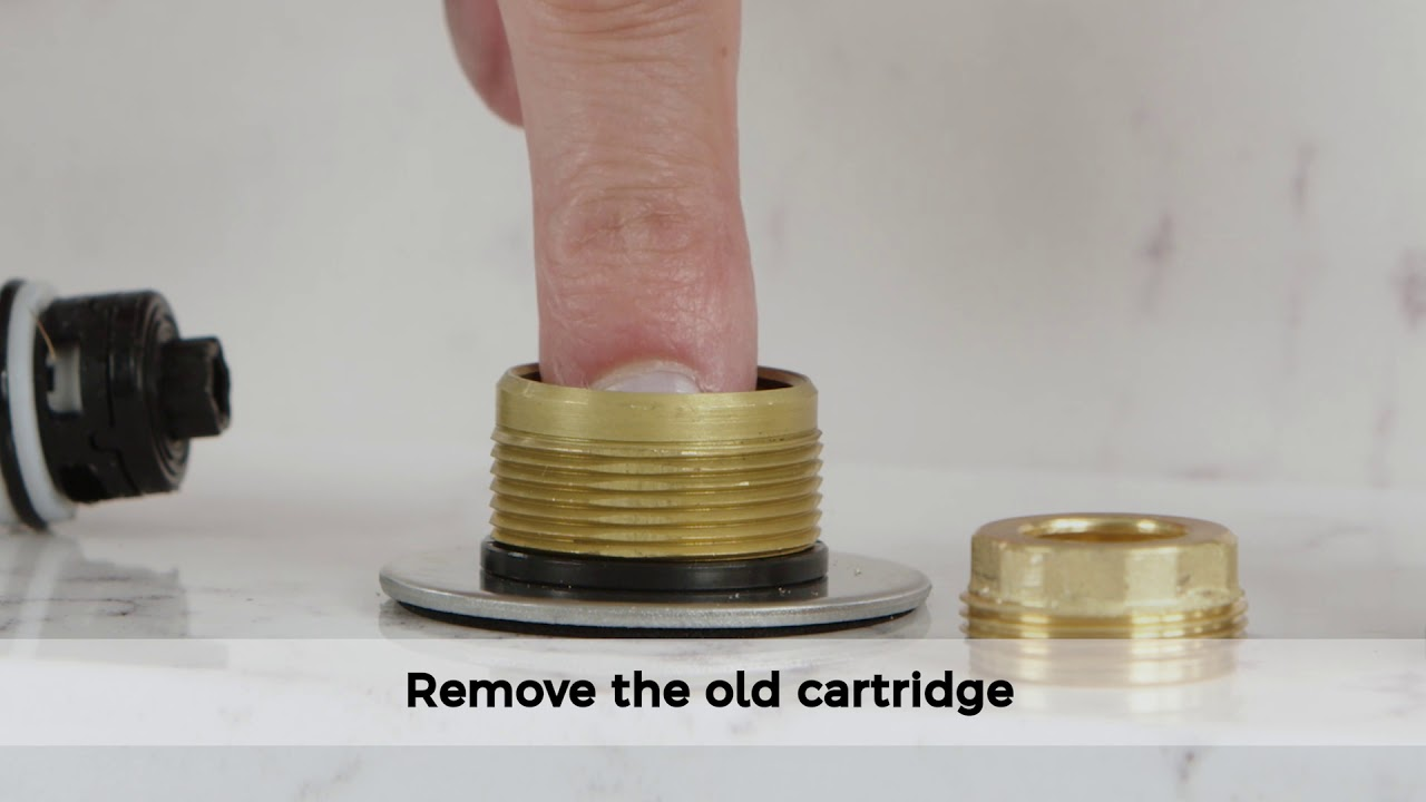 how to replace hot and cold cartridges on a pfister widespread bathroom faucet